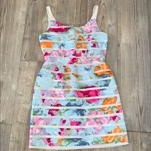 J. Crew Floral Silk Dress Size 0